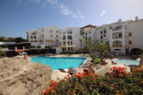 Costa Adeje,Fanabe beach,heated pool,ocean view