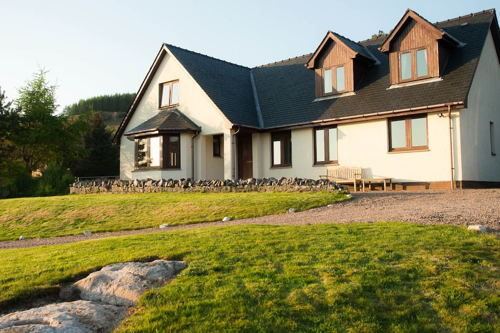 The front of the house overlooks beautiful Loch Sunart.