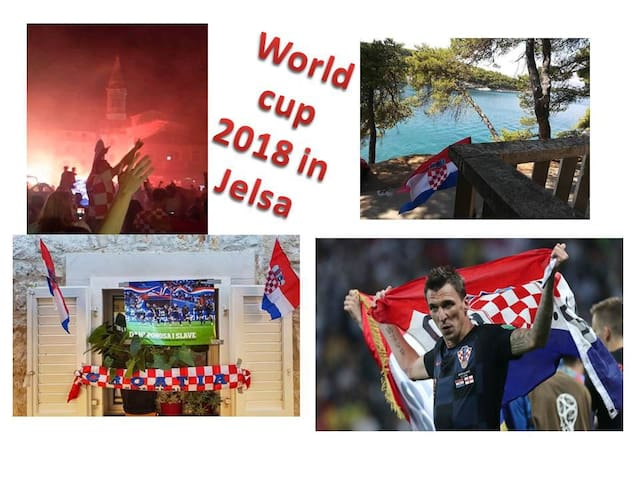 Jelsa is celebrating: Mario Mandžukić scored the winning goal in the 109th minute of the semi-final