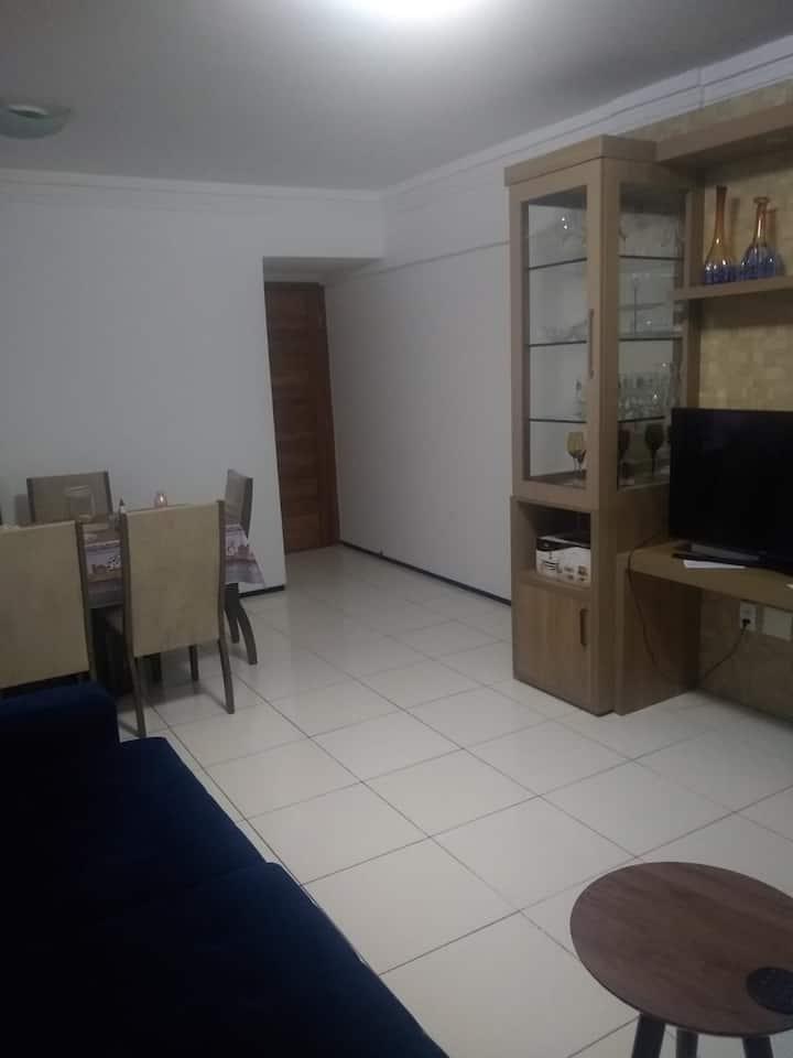 Um quarto no coração de Fortaleza.