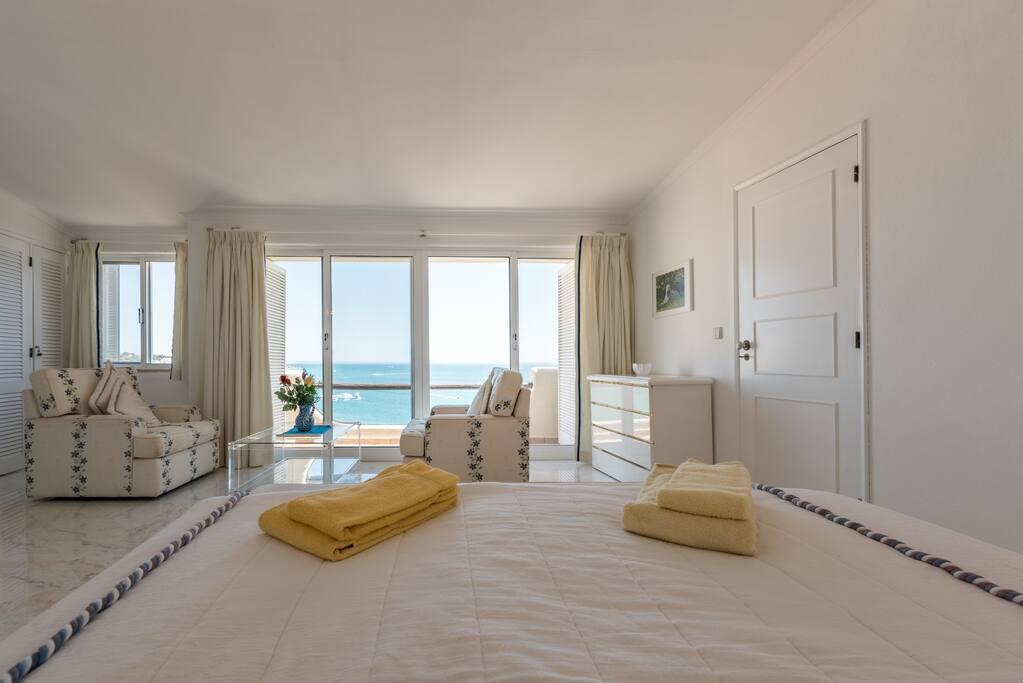 Blick auf aufs Meer aus Schlafzimmer 1