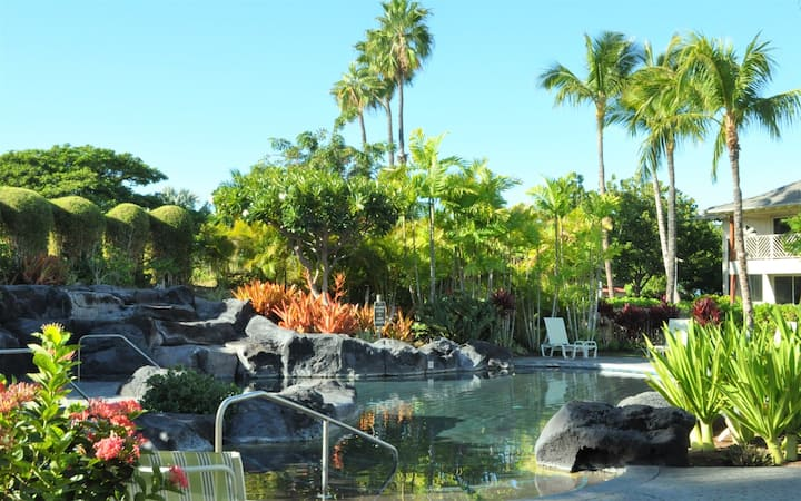 Waikoloa Beach Villas F3. Hilton Waikoloa Pool Pass included for 2020/21   BBQ Grill on the lanai and includes beach gear!