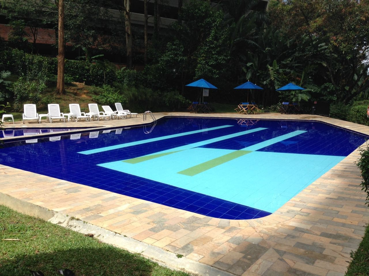 Huge pool to cool off, relax, get rid of all stress and meet the beautiful locals.