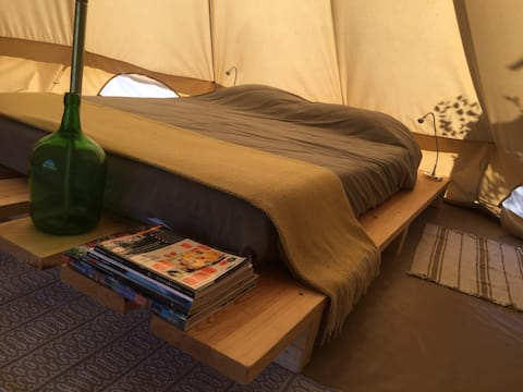 ValeFlores Bell Tent+Bathroom(2adults/2child.12yr)