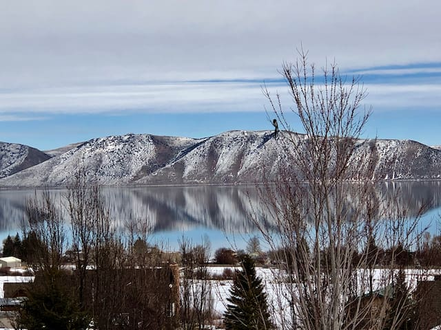 Beautiful view of the lake.