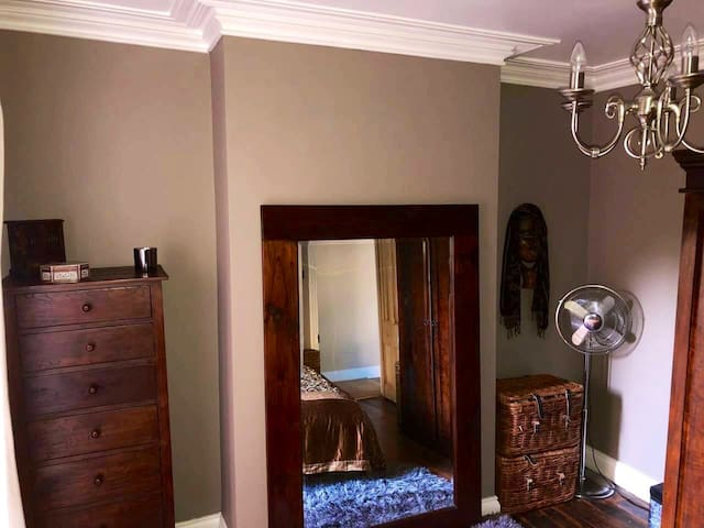 Large full length mirror and storage