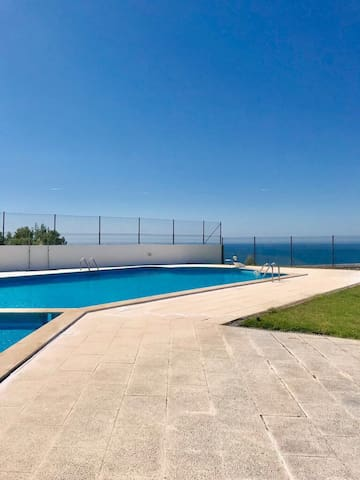 Duplex T1 - swimming pool and terrace (barbecue)