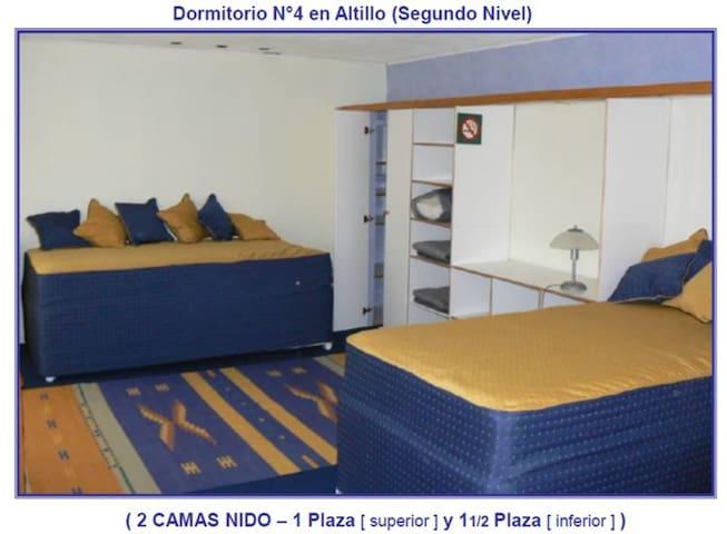 2do piso; 2 camas c/ cama nido