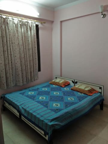 Double Bed with Attached Toilet