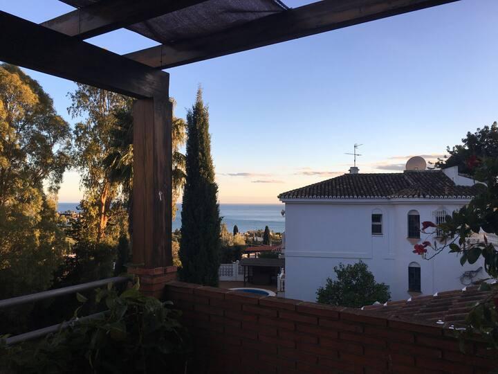 Sea View Room | Private terrace & bathroom | Pool