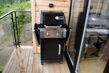 We have a GAS-BBQ. Fast and efficient barbecue.
