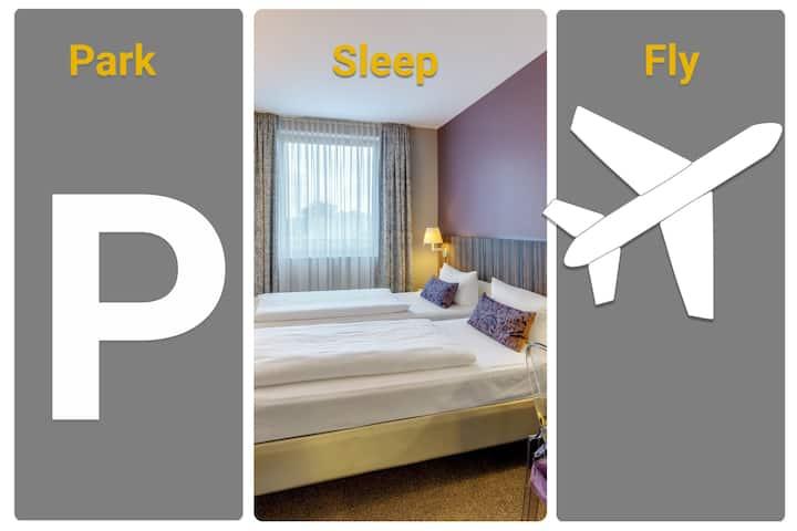3-room apart at Sleep&Fly GuestHouse, Boryspil KBP
