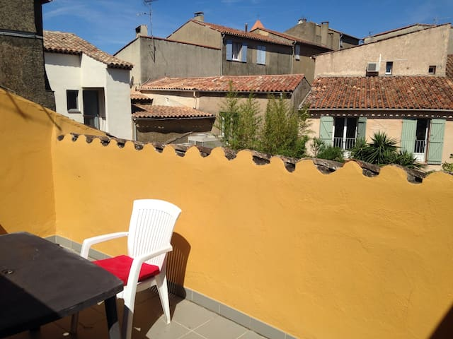 Studio avec terrasse tropezienne - Cogolin