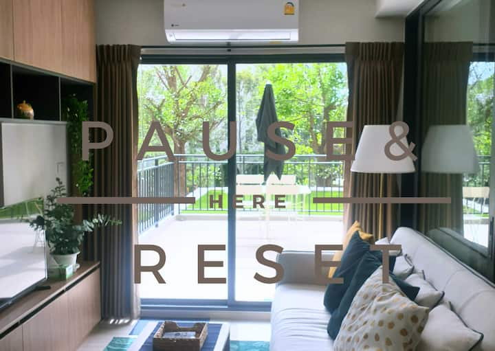 Pause & Reset here. Wide area to relax in Hua Hin.