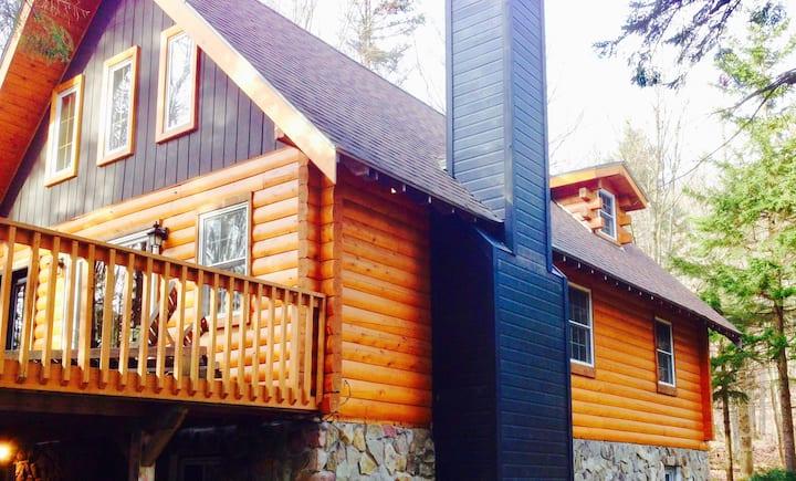 Jay Peak Log Cabin