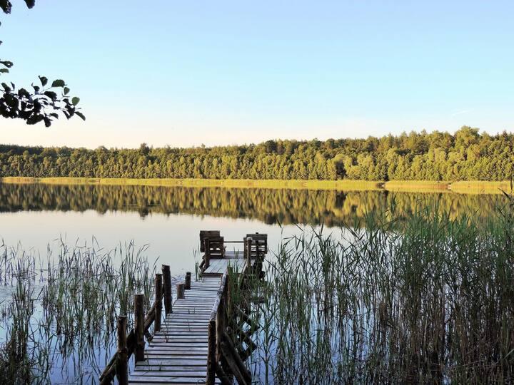 ZuHAUSe am See in Tuczenko - Wasser, Wald, Natur