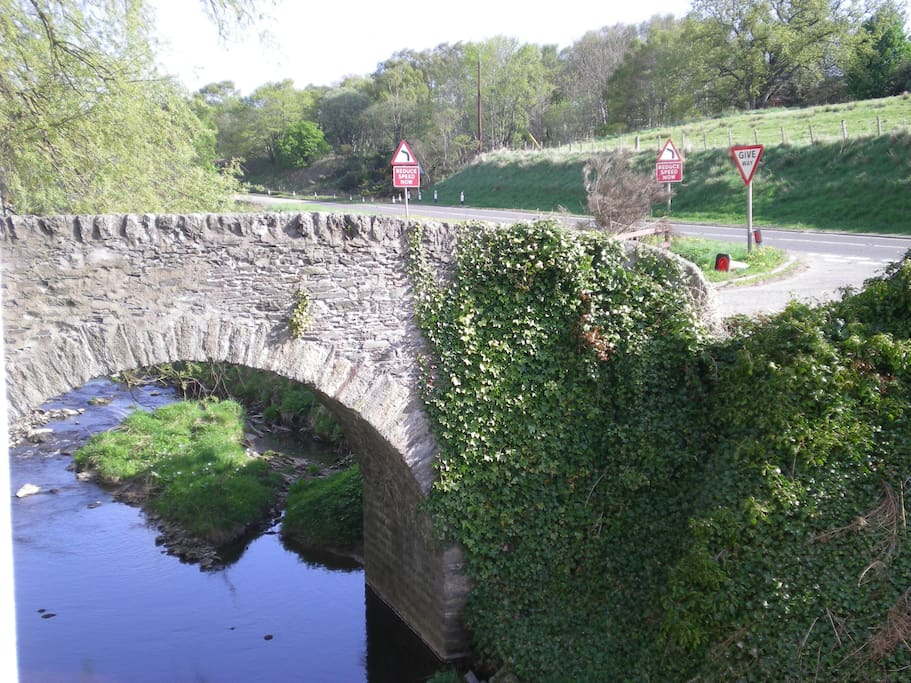 The 'wee' bridge off the A96 to Crooksmill