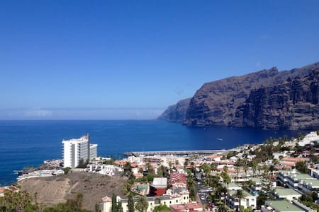 Private room with seaview terrace at Los Gigantes - Santiago del Teide - Apartment