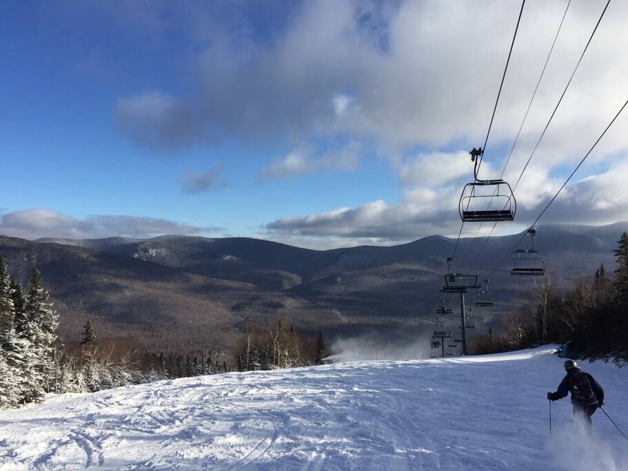 Skiing at Waterville Valley.