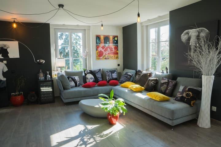 3 chambres à Meyzieu, confort et convivialité