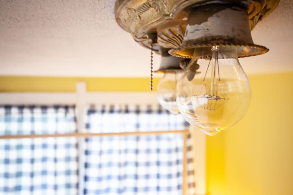 Historic touches and Edison bulbs
