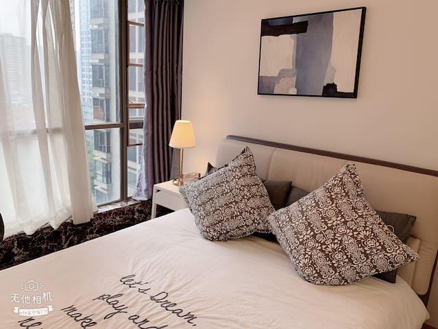 (房间已消毒)广州东站林和西双地铁+温馨简约风+正对威斯丁酒店+步行中信广场
