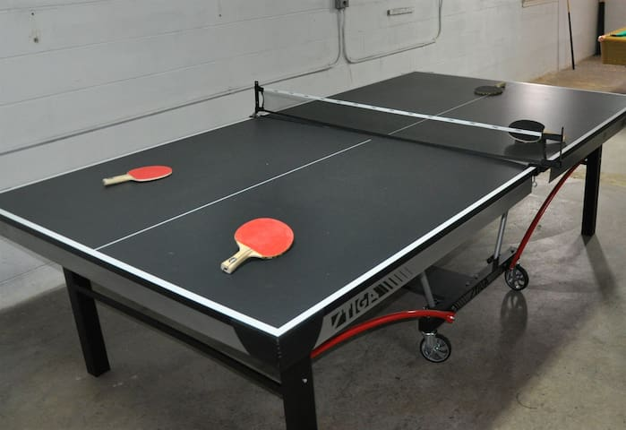 Tournament size ping pong & foosball tables