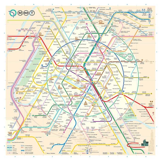 CosyArt sur le plan de métro de Paris