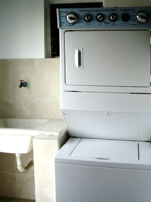 washer and dryer room