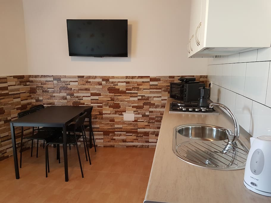 Dinning table and Flat TV