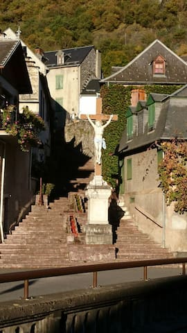 View from the bedroom side window. Steps to L'Elise Notre Dame