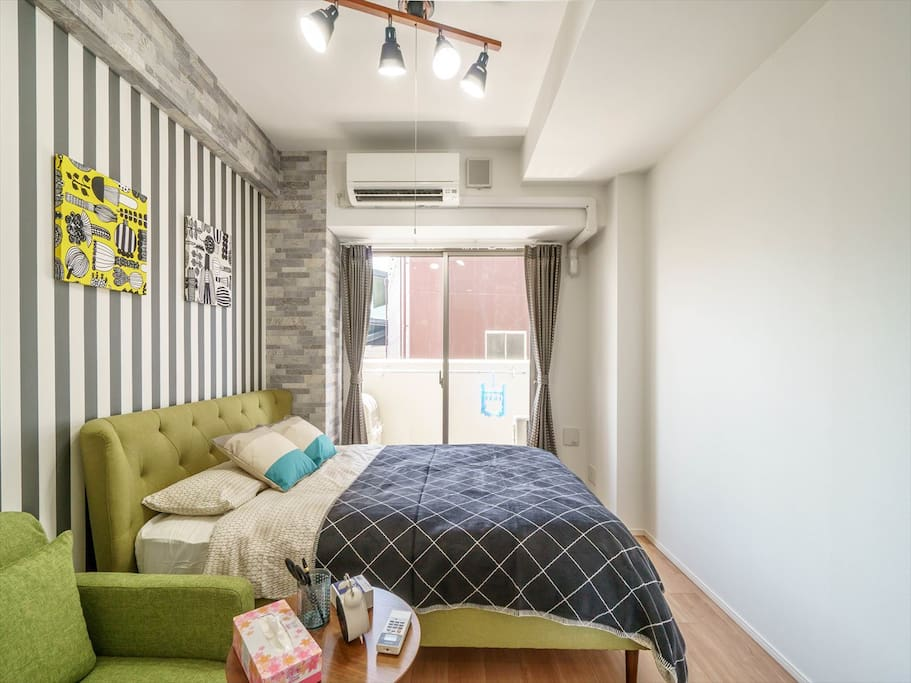 Studio Apartment with 1 double bed & 1 sofa bed