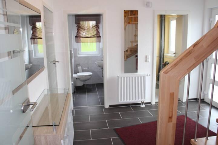 Ferienhaus Waldfee, (Alpirsbach), Schwedenhaus, 87qm, 2 Schlafzimmer, max. 7 Personen