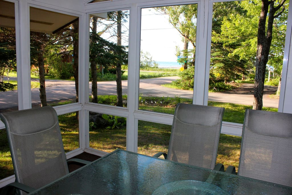 Screened Deck with view of the Northumberland Strait