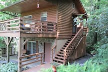 Rental is second story (400 sq.ft.) and deck