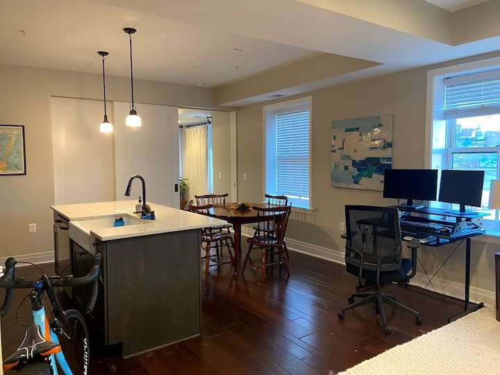 Centrally located DC 1BR/1BA with great WFH set-up