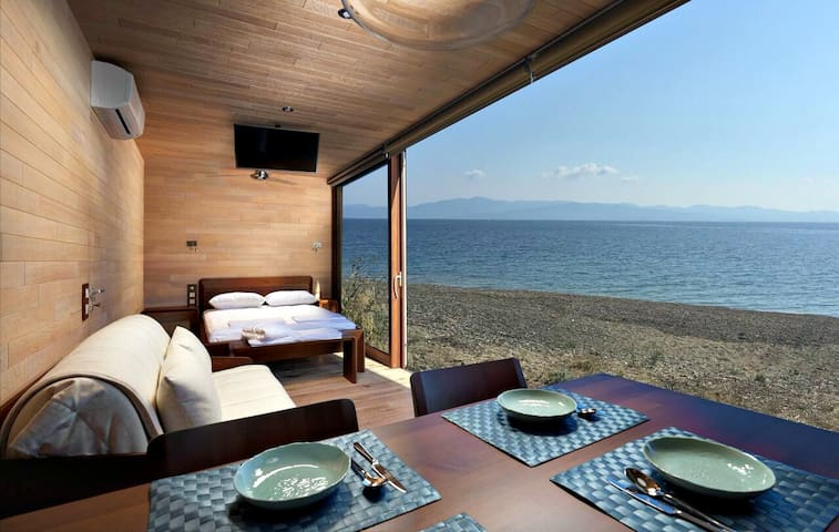 Wooden get-away on the beach! - Halkidiki - Bungalow