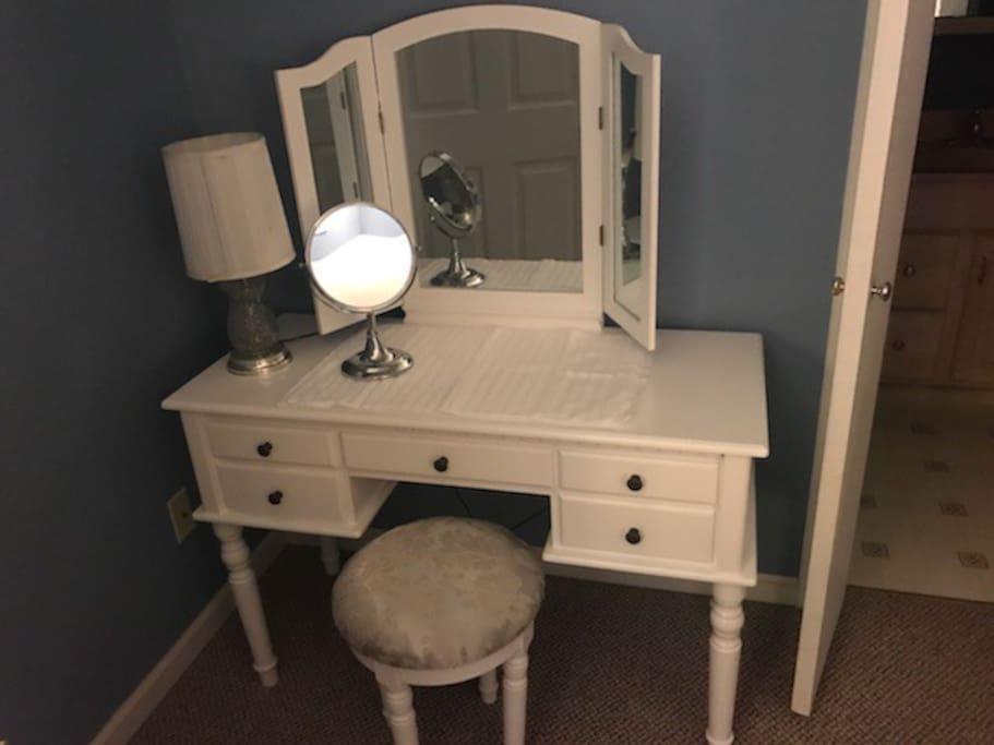 Vanity in downstairs bedroom