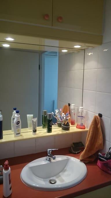 Salles bain fonctionnelle et agréable.