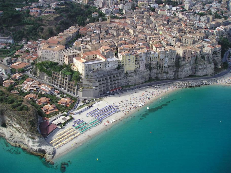 Tropea Beach and town