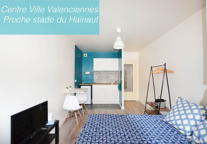 Valenciennes-Confortable studio Quartier Rhonelle