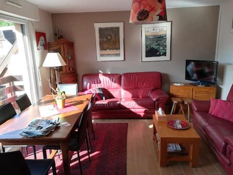appartement 2 pièces spacieux, lumineux et calme