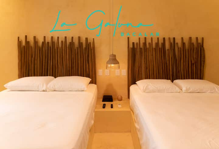 Modern Room with vibe #Bacalar *La Galuna Hotel*