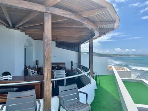 Dúplex, sensacional vista al mar y acceso a playa