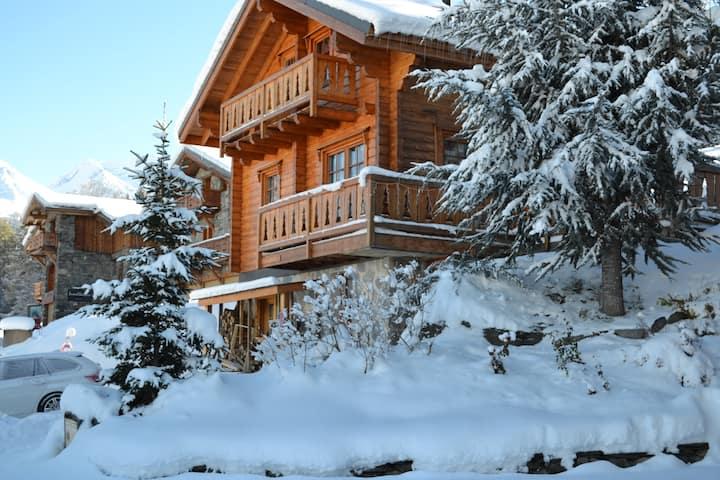 Ski au pied chalet Les Coches-La Plagne