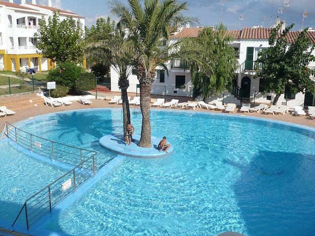 Beach apartment with swimming pool - Ciutadella de Menorca - Lägenhet