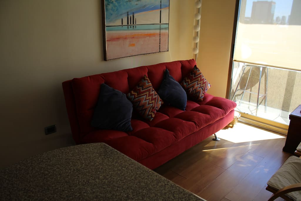 new futon of square and average, very comfortable