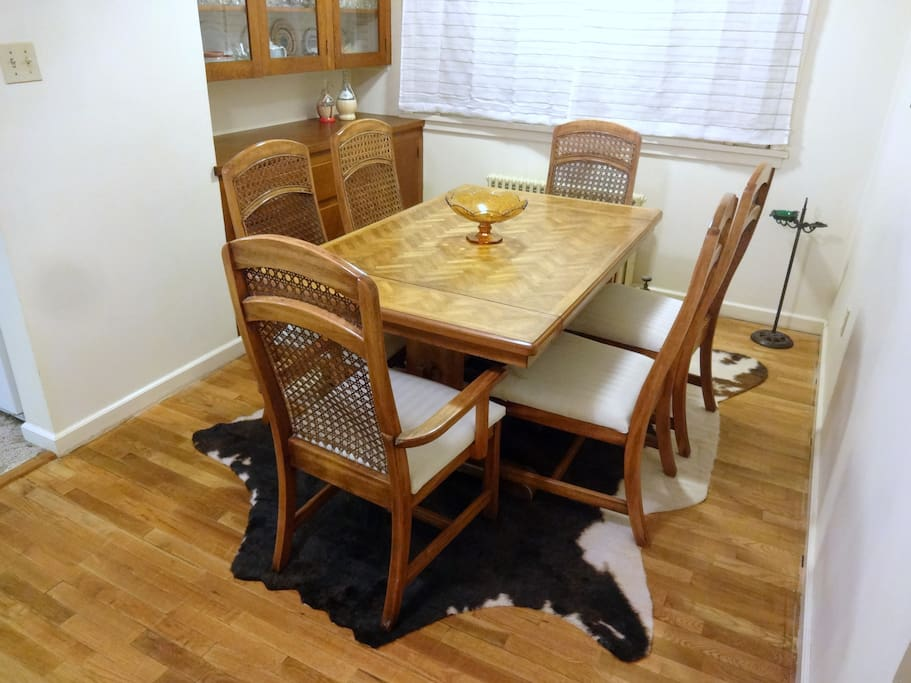 Western theme formal dining room