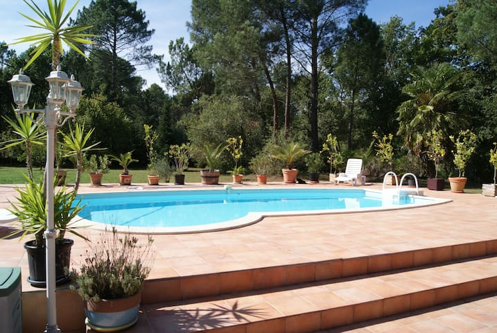 MAISON LANDES SUD GIRONDE PISCINE SPA PRIVES - Moustey - Huis