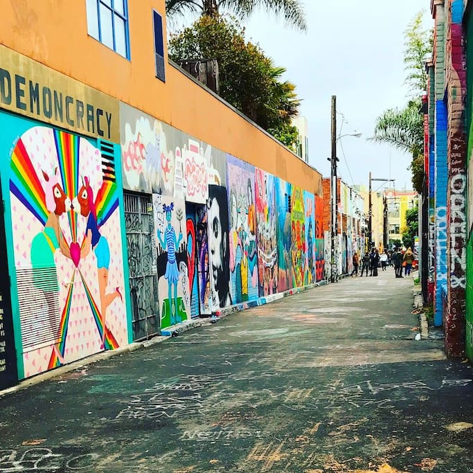 Photo of Clarion Alley in Mission District